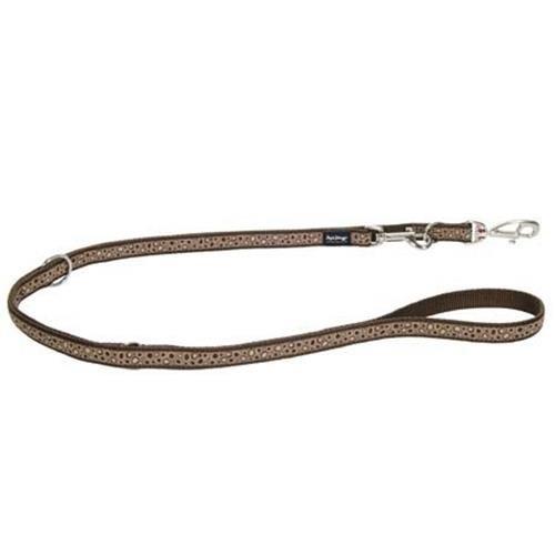 Red Dingo Bedrock Brown multi-purpose dog leash 6,5ft XS