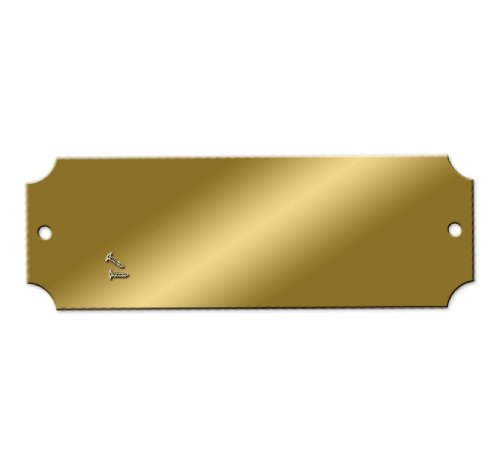 Blank Engraving Brass Plates - 2-1/2 x 7/8 inch - Pk/25 by NapTags