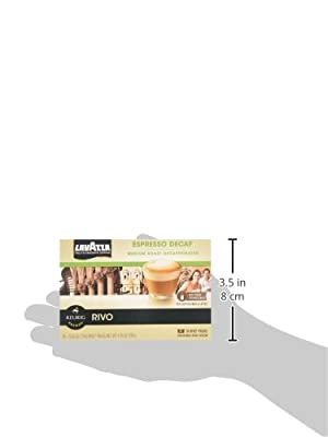 Lavazza Decaf, Espresso Packs for Keurig Rivo Systems(4.76 oz)(Pack of 4)