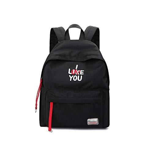 Ladies Simple Wild Casual Personality Korean Borsa viaggio Trend Fashion Backpack Black da ZxZzgXqr