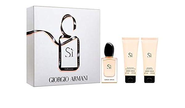 Armani Sì, Set de fragancias para mujeres - 3 piezas: Amazon.es: Belleza