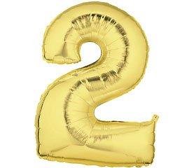(Number 2 Metallic Gold 40in Balloon)