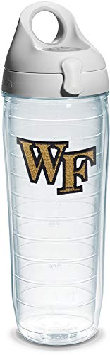 Wake Forest Demon Deacons Bottle - Tervis Wake Forest Emblem Individual Water Bottle with Gray Lid, 24 oz, Clear - 1067859