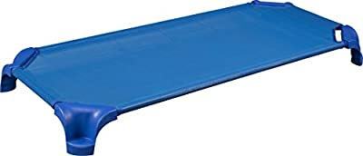 """Sprogs Deluxe Unassembled Stackable Daycare Cot with Easy Lift Corners, 52"""" W x 12"""" D, Assorted Colors, SPG-16138-AS (Pack of 4)"""