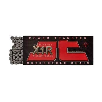 Chain Length: 110 JT Drive Chain 525 X1R Heavy Duty Expert Series X-Ring Drive Chain 110 Links Chain Type: 525 Color: Natural JTC525X1R110RL Chain Application: Street
