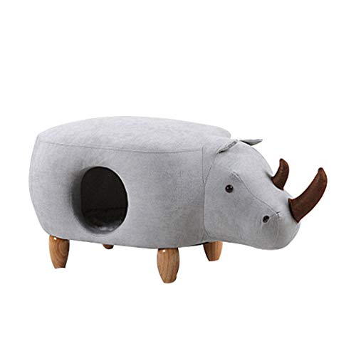 - Zcxbhd Pet House Kennel Cat Litter Solid Wood Shoe Bench Dual-use Warm Children's Sofa Decoration Stool Load 120kg (Color : White, Size : 833346CM)