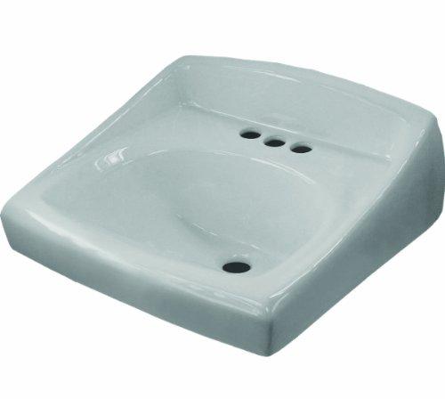 Sloan Valve SS-3003 Wall Hung Vitreous China Lavatory Sink with Backsplash, White