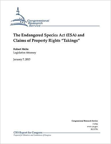 "Téléchargez kindle books gratuitement en ligneThe Endangered Species Act (ESA) and Claims of Property Rights ""Takings"" PDF CHM B005MKSFBY"