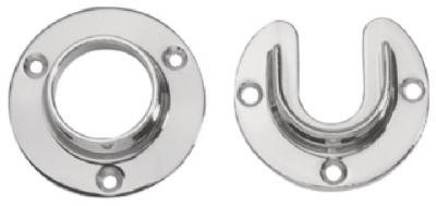 Lido Closet Flange Set 6' To 8' Chrome