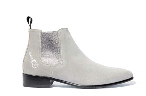 0c8d9367e53a0 Renforcés Gris 36 38 Nancy 39 Ville 37 Rock Boots Tailles Chaussures  Artisanale Pointe 41 Cuir Bottes Et amp  Argent Bottines De Femme  Fabrication Montantes ...