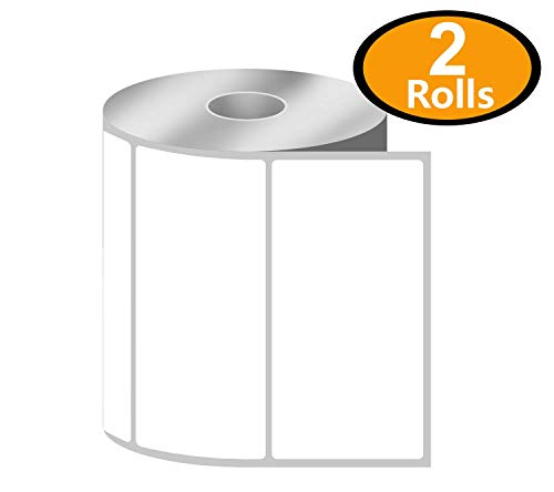 "BETCKEY - 4"" x 2"" Barcode Shipping & Multipurpose Labels Compatible with Zebra & Rollo Label Printer,Premium Adhesive & Perforated[2 Rolls, 1500 Labels]"