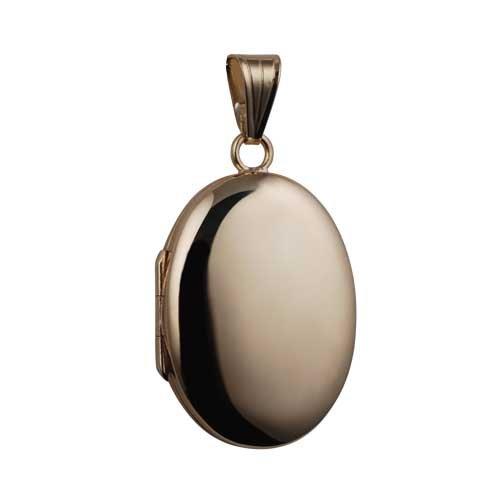 Médaillon ovale à loquet en or Jaune 375/1000, de 27x20mm fait main