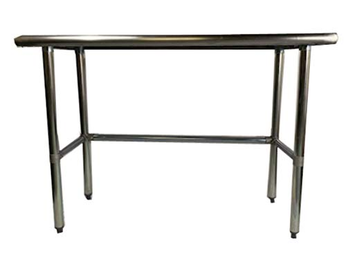 Heavy Duty Stainless Steel Prep Work Table with Crossbar 18 x 60 - NSF -
