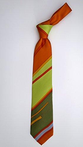 100% Silk Hand-Painted Hand-Made Men's Necktie ''Spring Line'' Art to Wear by Murphyties by Murphyties Inc.