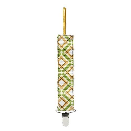 Munchkin Pacifier Clip Green Argyle
