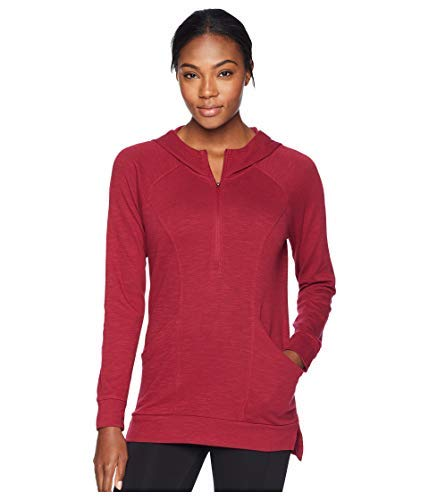 Scalloped Face (The North Face Women Om Half Zip - Rumba Red - L)
