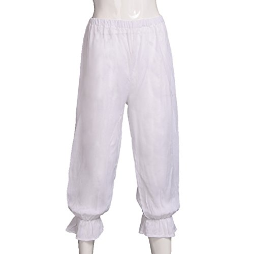 BLESSUME Victorian Lady Pantaloons Wthie Bloomers (Waist: About 64-110cm/25-43) by BLESSUME (Image #3)