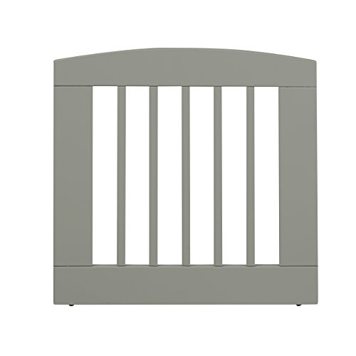 BarkWood Freestanding Wood Pet Gate – Single Panel – Medium – 24″H – Grey Finish