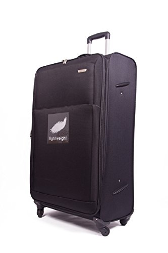 "32"" 4 Wheel Lightweight World lightest Suitcase Trolley Cases Luggage (BLACK 2107)"