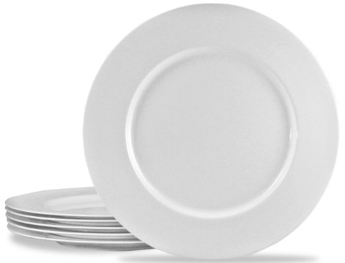 Calypso Basics by Reston Lloyd Melamine Dinner Plate, Set of 6, White