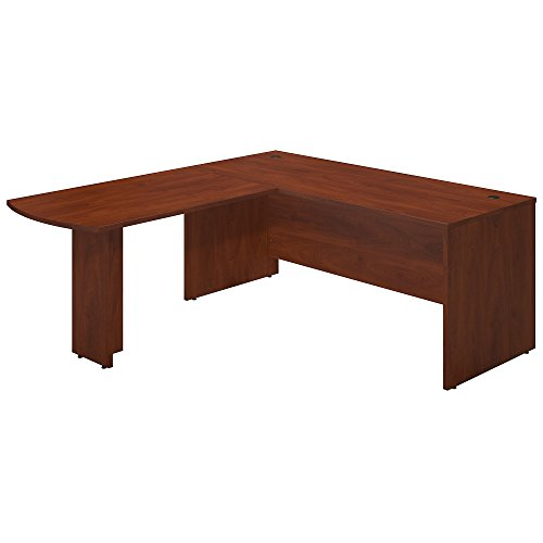 Bush Business Furniture Series C Elite 72W x 30D Desk Shell with 48W Peninsula Return in Hansen Cherry