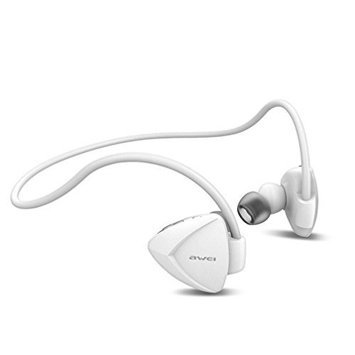 Creazy® Wireless Sport Headphone Noise Isolation Bluetooth Earphone Headset with NFC (White)