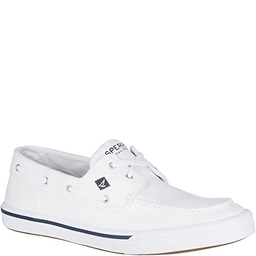 Sperry Top-Sider Men's Bahama II Boat Washed Sneaker, White, 10.5 Medium US Eyelet Mens Shoe