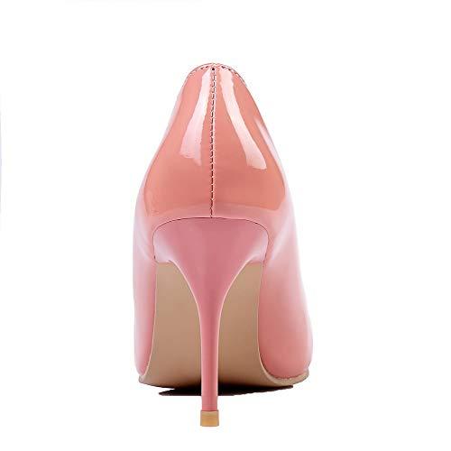 Tacco Ballet Alto AllhqFashion Luccichio Tirare Donna Puro Rosa Flats FBUIDD005924 BqIfw