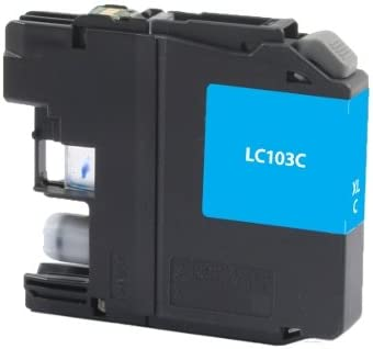 Equivalent to Brother LC-103C SuppliesMAX Compatible Replacement for CIG118150 Cyan Inkjet 600 Page Yield