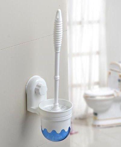 Glive's Plastic Toilet Cleaning Brush Holder - White