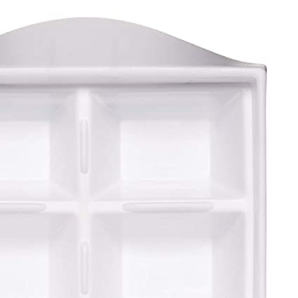 White BarCraft Ice Cube Tray with Flexible Easy Release Mould 32 x 12 cm