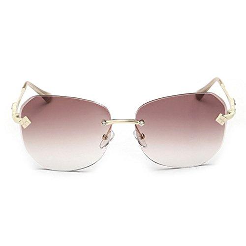 LOMOL 2016 New Womens Trendy Metal Frame UV Protection Personality Oversized Driving - Wholesale Golden Sunglasses Bridge