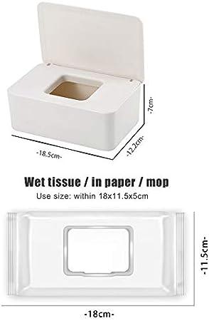 Samseed Dustproof Tissue Storage Box Case Wet Wipes Dispenser Holder with Lid for Home Office Desk
