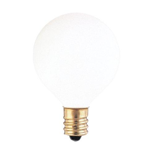 Bulbrite 300010 10G12WH 10-Watt Incandescent G12 Globe, Candelabra Base, White (Pack of 24)