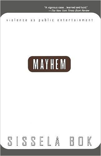 Mayhem: Violence As Public Entertainment (1999 Printing): Sissela