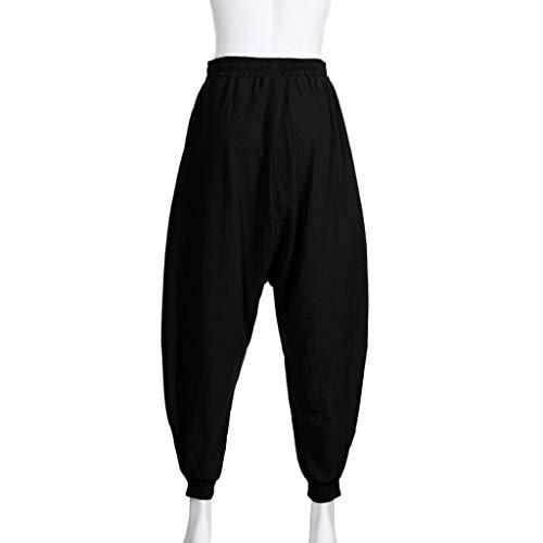 Pants Cotone Sportivi Casual Della Leggings Pantaloni Uomini Retro Per Festival Tuta Lunghi Nero Baggy Harem Abcone Uomo Da FX4Yq