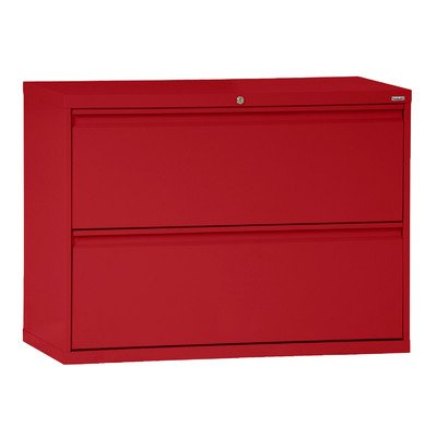 Sandusky Lee LF8F302-01 800 Series 2 Drawer Lateral File Cabinet, 19.25