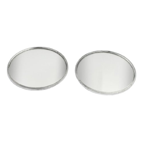 """uxcell 2 Pcs Adhesive Round Side Rearview Blind Spot Mirrors Silver Tone 2"""""""
