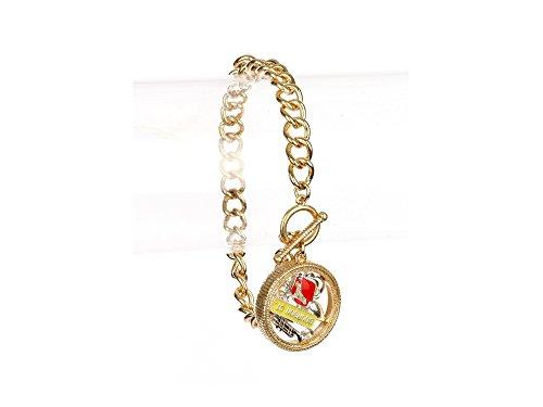 Louisiana Fleur de Lis Floating Charm Toggle Bracelet ()
