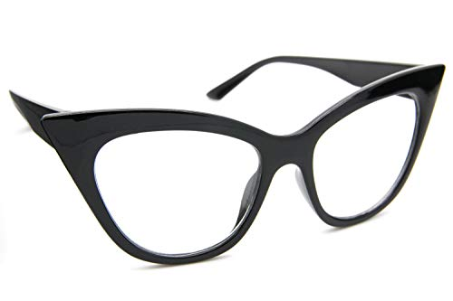 Black Full Frame Women Eyeglasses Clear Lens Retro Style Glasses Black Brown 1013 Eyeglasses Brown Frame