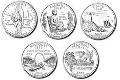 - 2003-D State Quarter Set: 5 Coins