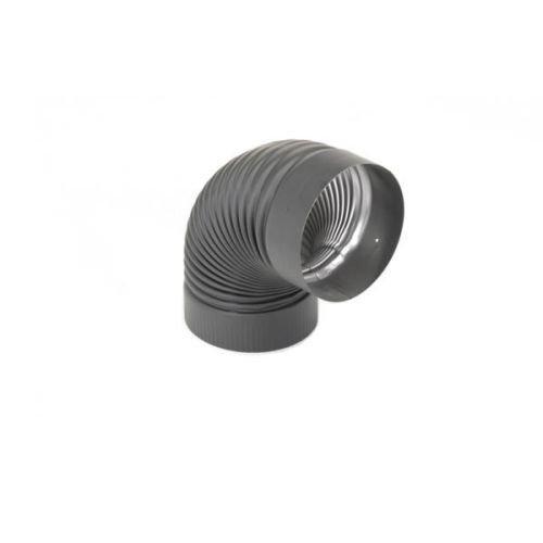 (Selkirk Corporation 2614B 6 Inch Heat-fab 22-ga Welded Black Stovepipe 90 Deg)