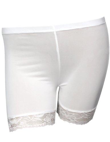 Black Dahlia Costume (Refreshing Lace Edge Silky Safety Shorts - White)