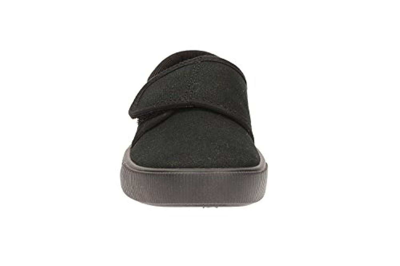 Clarks Boys Seasonal Hopper Run Textile Plimsolls In Black Wide Fit Size 1