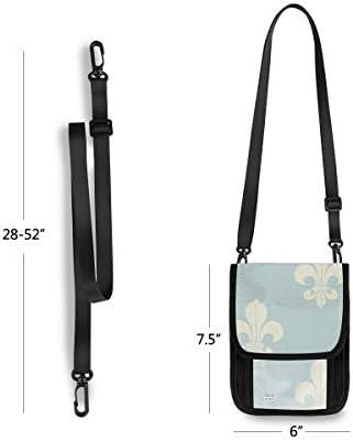 トラベルウォレット ミニ ネックポーチトラベルポーチ ポータブル バッジ ヴィンテージ 小さな財布 斜めのパッケージ 首ひも調節可能 ネックポーチ スキミング防止 男女兼用 トラベルポーチ カードケース