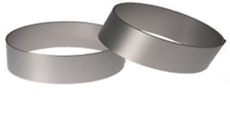 (Pack of 2) Round Ring Mold. Stainless Steel (4' D x 0.75'H) Heavy Gauge Sunrise Kitchen Supply