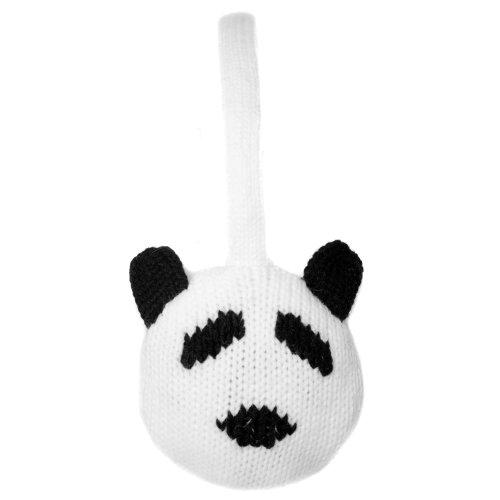 Moda y Blanco Accessoryo Orejeras t Panda Lindo Style negro O0wxfA