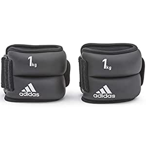 Adidas Unisex Adult Adwt-12228 Ankle-wrist Weights, Black, One Size