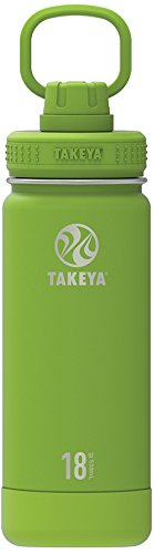 Takeya Actives 18oz Insulated Stainless Steel Water Bottle with Spout Lid - Lime Green