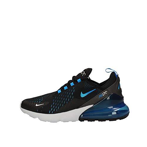 Nike Mens Air Max 270 Running Shoes Black/Photo Blue/Pure Platinum AH8050-019 Size 12 ()